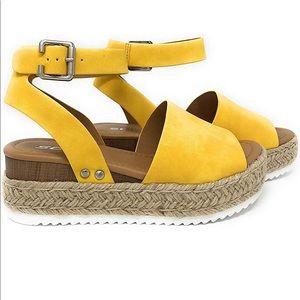 Yellow Espadrille Sandals